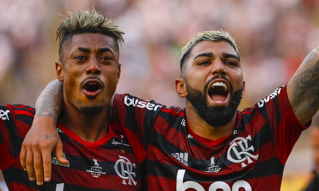 Bruno Henrique ha vinto i titoli Fla a Taça Rio (2019), Taça Guanabara (2020 e 2021), tre volte il Campionato Carioca (2019, 2020 e 2021), la Libertadores (2019), addirittura due volte il Campionato brasiliano (2019 e 2020). ), così come la Supercoppa brasiliana ( 2020 e 2021) e Recopa Sudamericana (2020) Foto: Ricardo Moreira/Agência O Globo