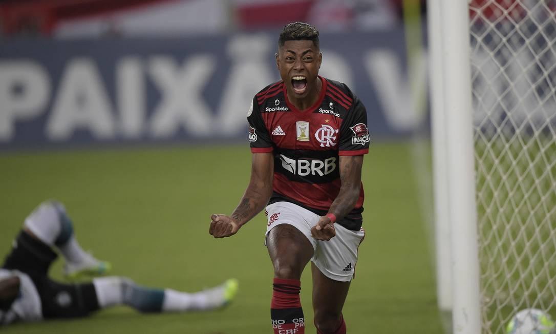 Bruno Henrique festeggia il gol con la Florida.  Foto: Alexandre Loreiro/Reuters