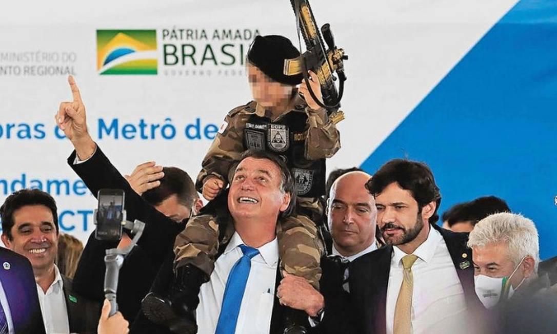 O presidente Jair Bolsonaro participa do evento 1000 Dias de Governo Foto: Rodney Costa/Futura Press