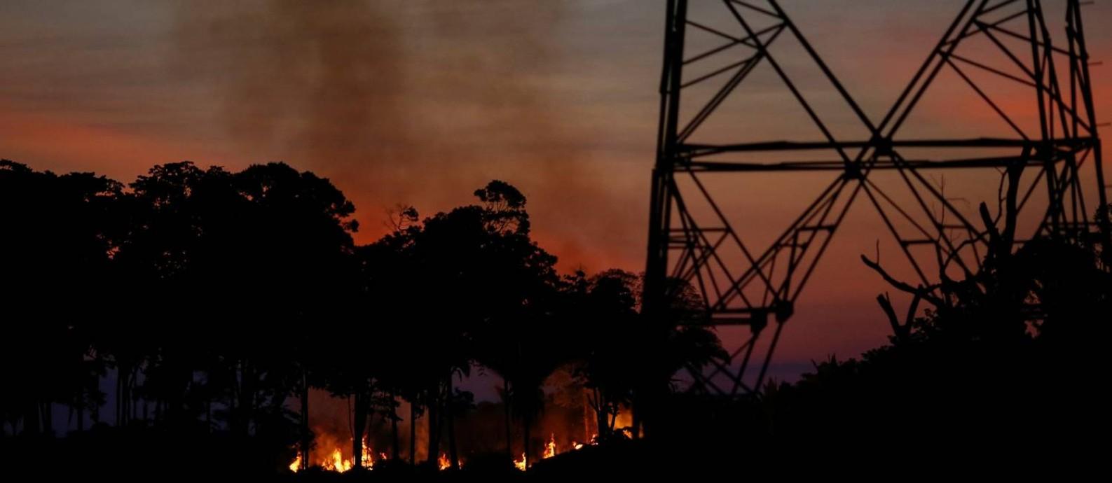 Incêndio florestal em Roraima: cálculo abre brecha para o Brasil manter desmatamento anual alto Foto: Adriano Machado / Reuters