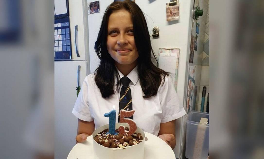Jorja Halliday, de 15 anos, morreu de Covid-19 no dia em que seria vacinada Foto: Reprodução