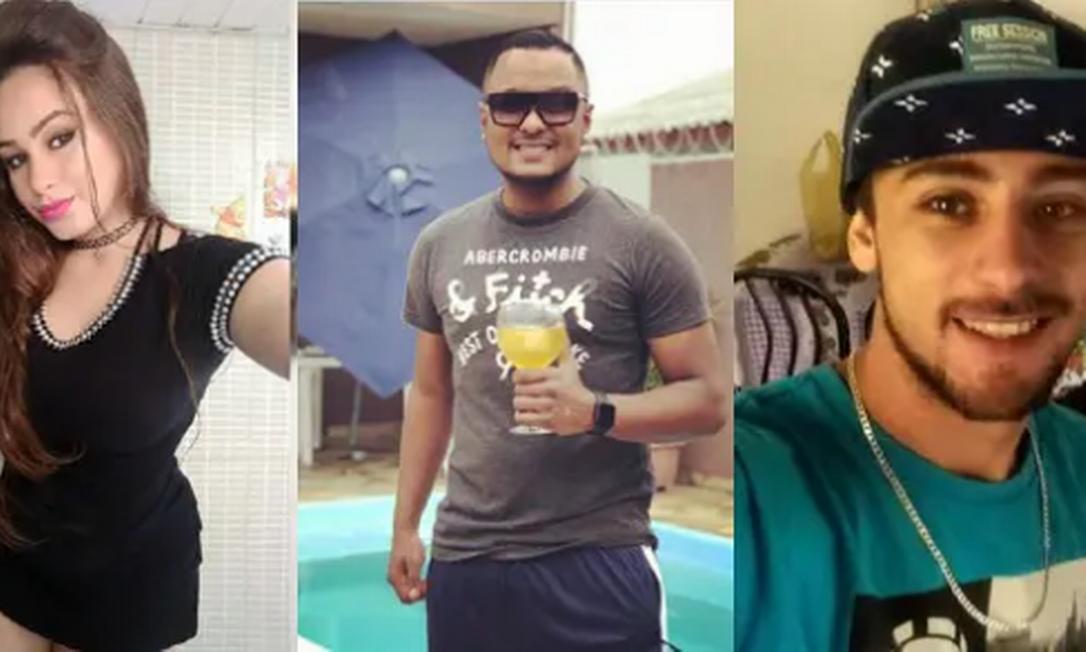 Larissa Petez, Wemerson Souza e Gustavo Castro morreram após explosão de churrasqueira em Curitiba Foto: Reprodução