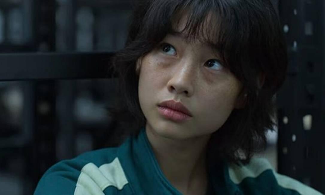 Jung Ho Yeon fez sua estreia como atriz em 'Round 6' Foto: Divulgação / Netflix