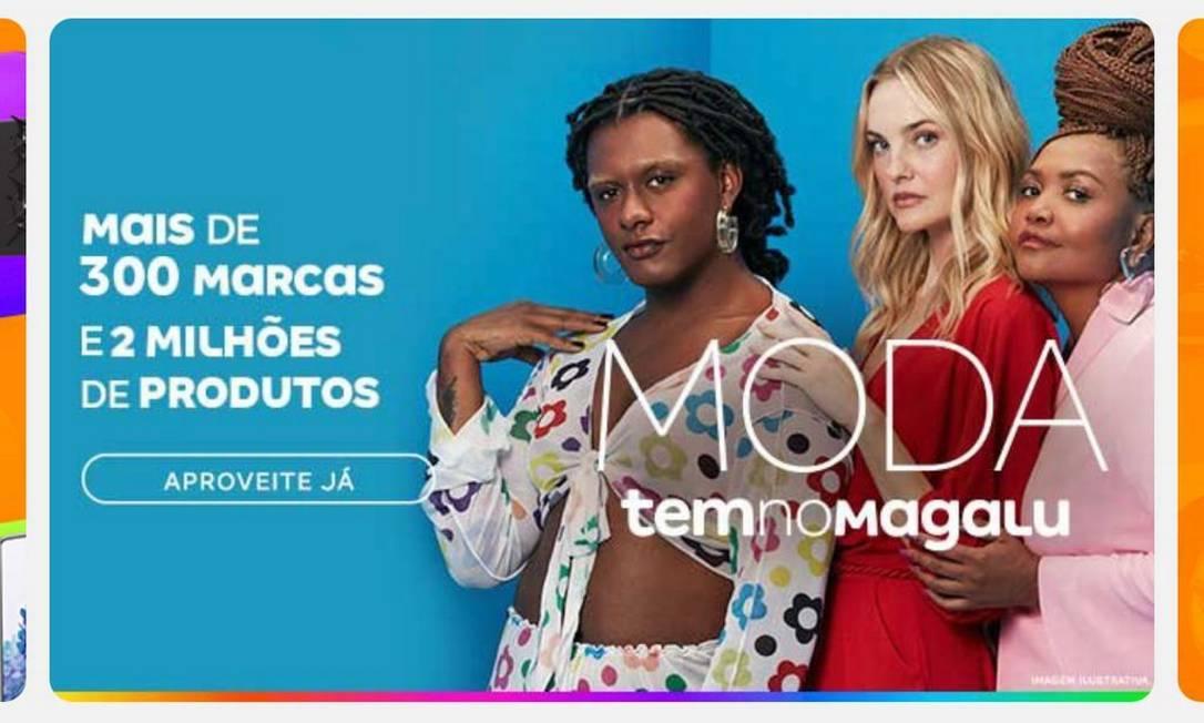 Magazine Luiza lança área para vender roupas, calçados e acessórios no supeapp. E prepara marca própria de moda Foto: Reprodução