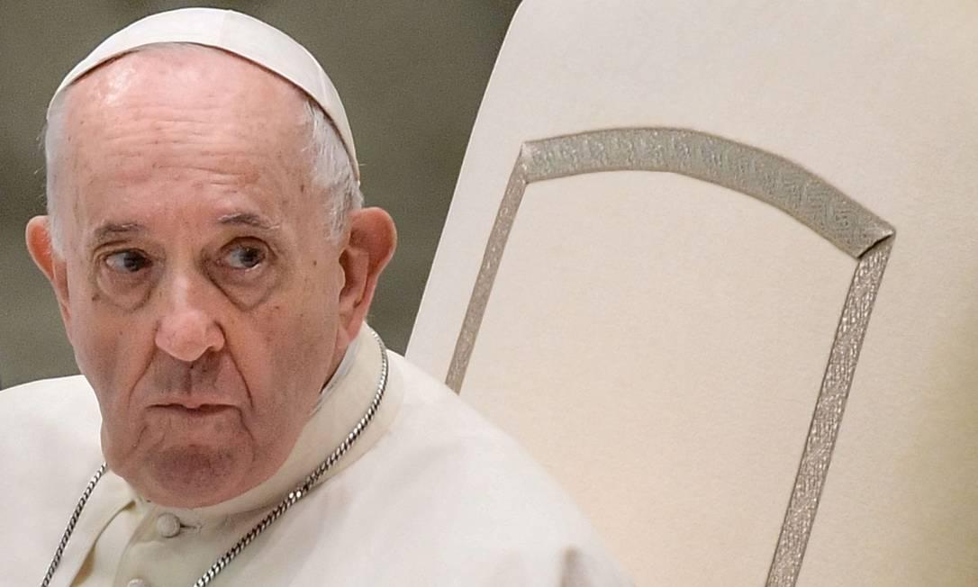 Papa Francisco expressa 'vergonha' após divulgação de relatório sobre abusos cometidos por religiosos na França Foto: FILIPPO MONTEFORTE / AFP