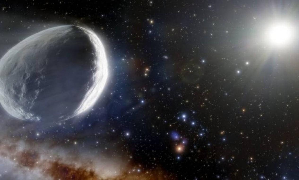 Cometa Bernardinelli-Bernstein foi descoberto pelo cosmólogo brasileiro Pedro Bernardinelli Foto: Noirlab/NSF/Aura/J. da Silva
