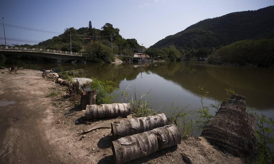 Derrubada de árvores no Tibau para construção do Parque Orla de Piratininga Foto: Maria Isabel Oliveira / Agência O Globo