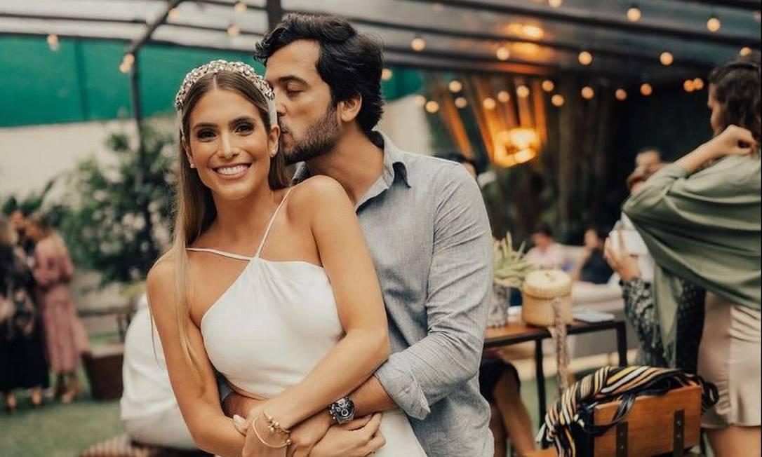 Branca Feres e seu noivo, Gustavo Frota Foto: Reprodução/Instagram