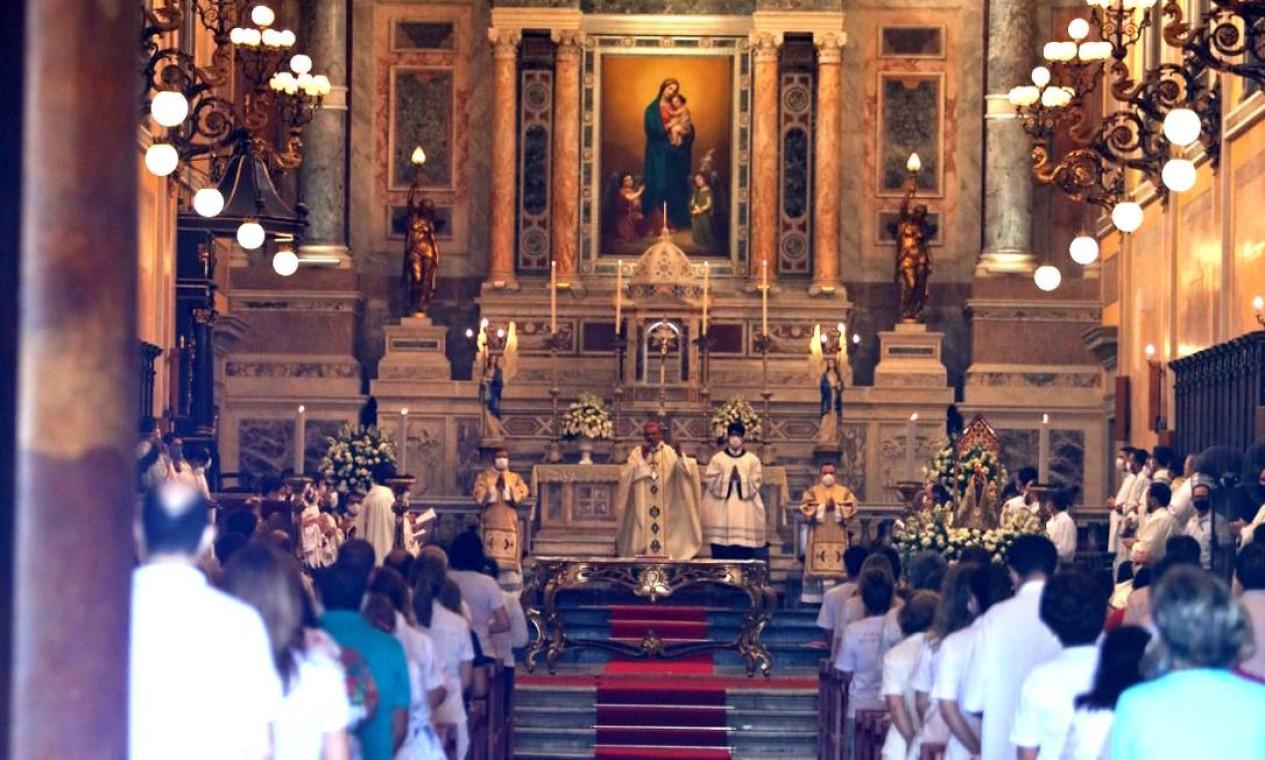 Interior da Catedral da Sé, em Belém Foto: Pedro Guerreiro / Agência Pará / Agência O Globo