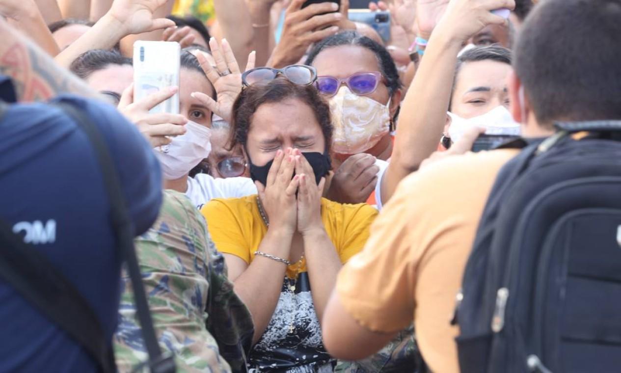 Fiéis se emocionam numa das maiores festas religiosas do mundo, o Círio de Nazaré Foto: Pedro Guerreiro / Agência Pará / Agência O Globo