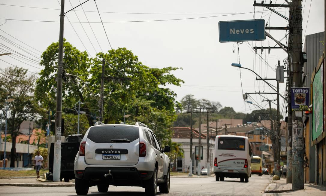 No Bairro de Neves, em São Gonçalo, o número de roubos aumentou em comparação com 2020 Foto: Brenno Carvalho / Agência O Globo