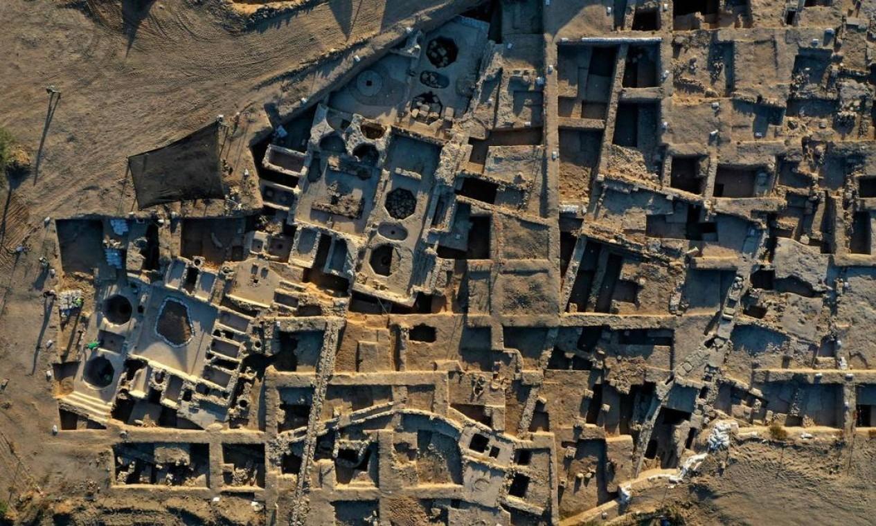 Área datada do período bizantido tem quase 7 mil metros quadrados Foto: MENAHEM KAHANA / AFP