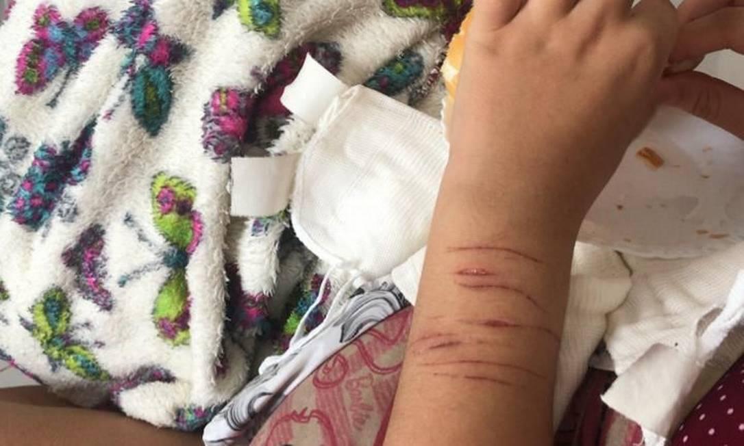 Adolescente de 13 anos, a primeira a denunciar Marcos Vitor, se automutilava com frequência Foto: Arquivo pessoal