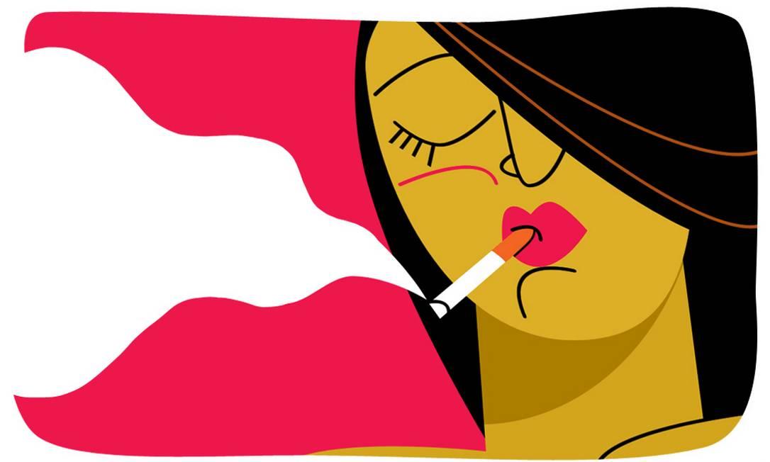Uma das piores práticas para a saúde da pele é o tabagismo. Fumar pode fazer a pessoa envelhecer até duas vezes mais que um não-fumante. Foto: André Mello / O Globo