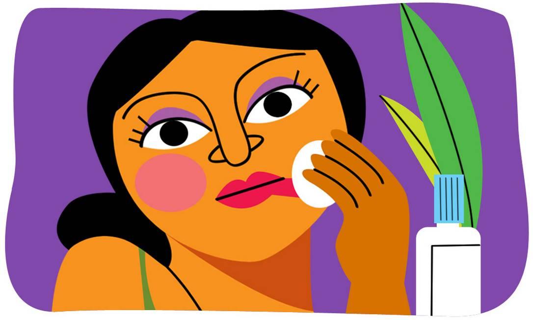 Especialistas chamam a atenção para a importância de se retirar a maquiagem corretamente com o uso de demaquilantes para não danificar a pele. Foto: André Mello / O Globo