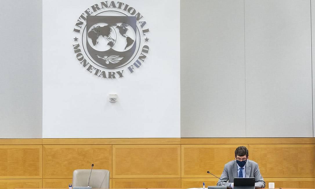 O encontro anual do Fundo Monetário Internacional (FMI) começa nesta terça-feira Foto: Cory Hancock / IMF Photo/Cory Hancock