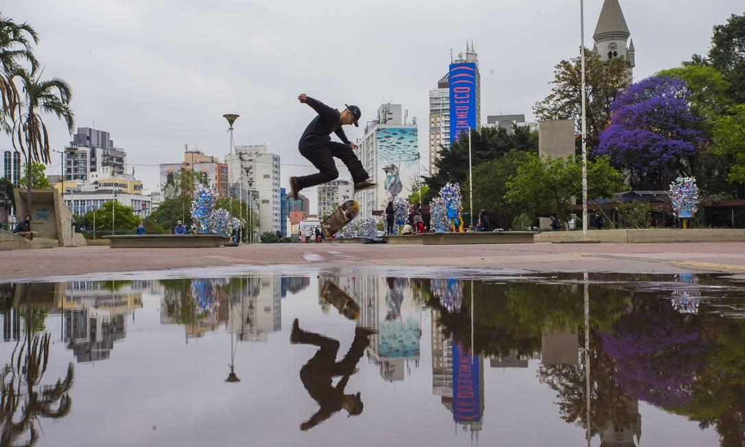 Praça Roosevelt no centro da cidade é o local de encontros dos jovens em São Paulo Foto: Edilson Dantas / Edilson Dantas