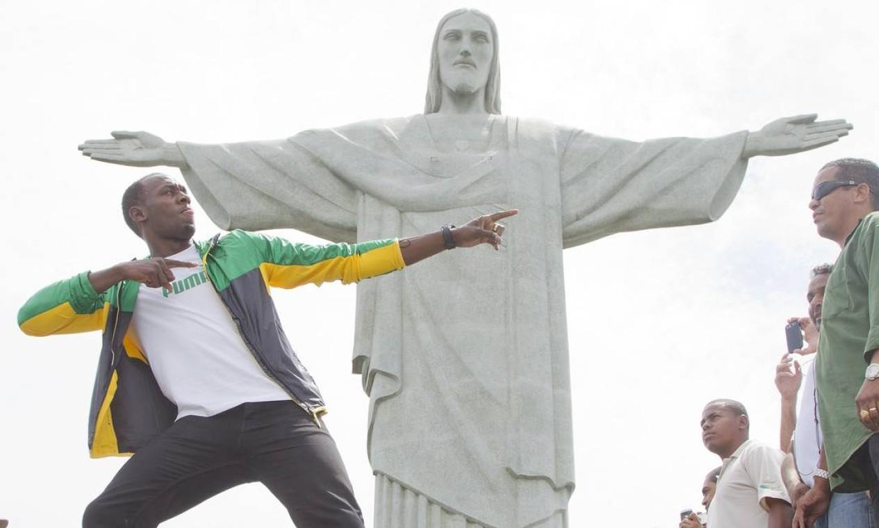 O velocista jamaicano Usain Bolt, bicampeao olímpico, em 2012 Foto: Ivo Gonzalez / Agência O Globo