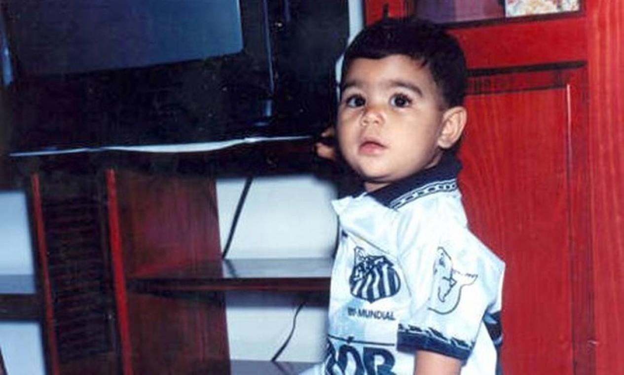 Gabigol pôde dizer que realizou um sonho de infância ao jogar no Santos Foto: Reprodução