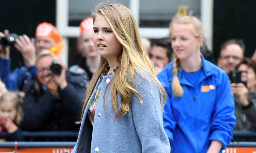 Princesa Catharina-Amália chega para celebrações do Dia do Rei, Amersfoort, na Holanda, em 2019 Foto: PIROSCHKA VAN DE WOUW / REUTERS