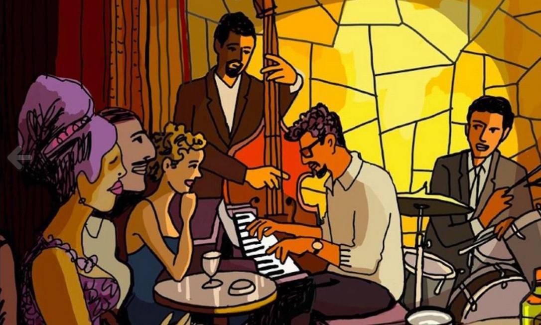 """Cenas da animação """"They shoot the piano player"""", do diretor espanhol Fernando Trueba, sobre o músico brasileiro Tenório Jr. Foto: Divulgação"""