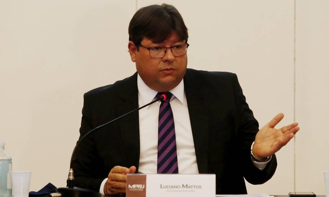 O procurador-geral de Justiça do Rio, Luciano Mattos: ato de repúdio contra PEC que reduz autonomia do MP Foto: Fabiano Rocha / Agência O Globo/11-05/2021