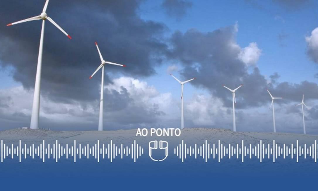 Energia eólica é peça-chave na produção de hidrogênio verde, por ser uma fonte 100% renovável Foto: Arte
