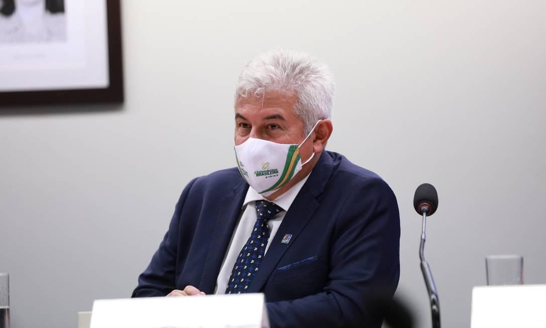 O ministro Marcos Pontes em audiência pública na Câmara dos Deputados - 06/10/2021 Foto: Divulgação