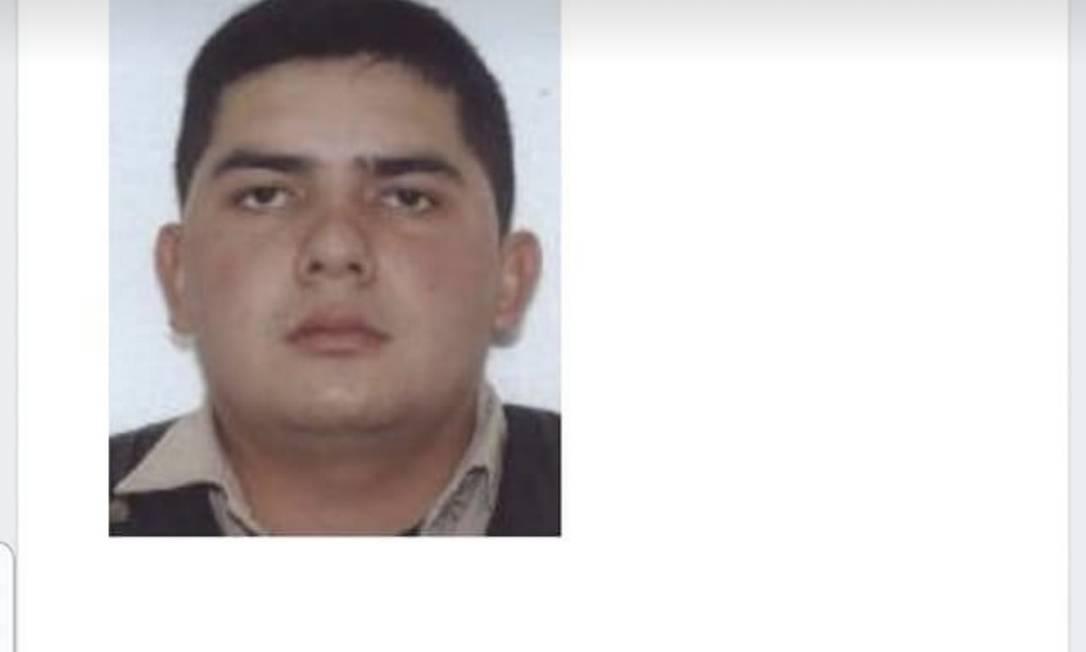 O policial paraguaio Hugo Ronaldo Acosta Foto: Reprodução
