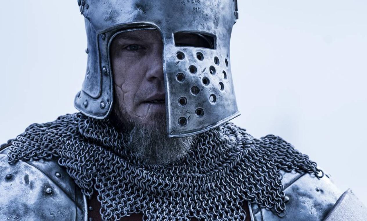 Matt Damon vive o cavaleiro que arrisca a vida em conflitos durante a Guerra dos Cem Anos Foto: Patrick Redmond / Divulgação