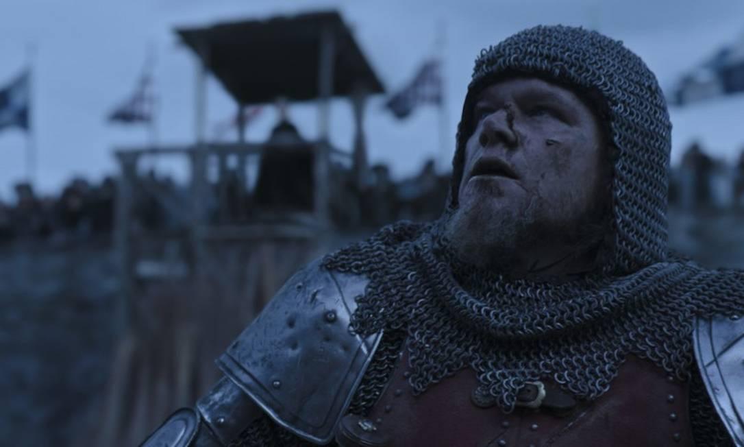 """Matt Damon como Jean de Carrouges em """"O último duelo"""", de Ridley Scott Foto: Divulgação"""