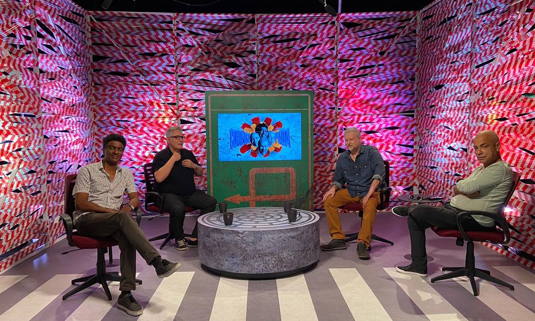'Conversa piada' estreia neste sábado (16) na TV Cultura sob o comando de Hélio de la Peña, Hubert Aranha, Beto Silva e Cláudio Manoel Foto: Divulgação