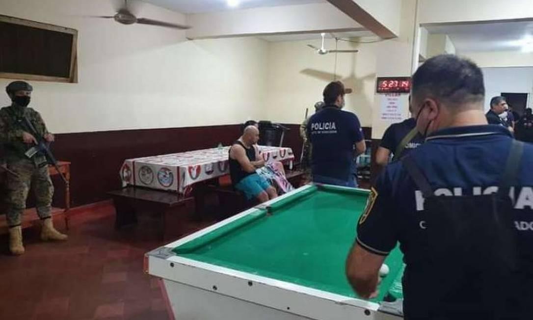 A mesa de sinuca na cela do narcotraficante Cabañas Foto: Divulgação