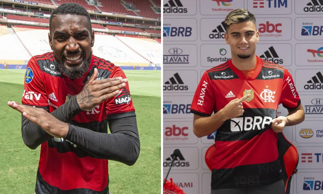 Compare os números de Gerson e Andreas no Flamengo Foto: Alexandre Vidal/Flamengo