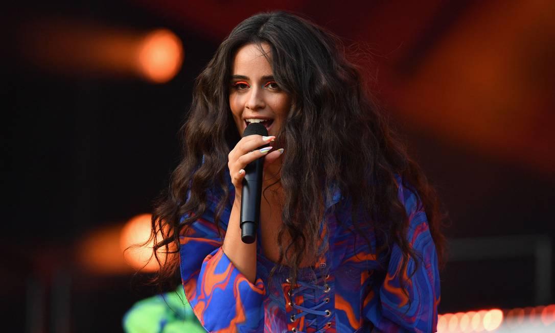Camila Cabello se apresenta no festival Global Citizen Live no Central Park, em Nova York, em 25 de setembro deste ano Foto: Angela Weiss / AFP