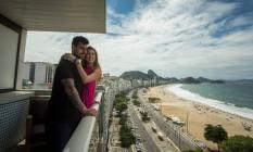 Lucas Tafuri e Alexka Delate evitaram deixar São Paulo antes da vacina, mas agora estão à vontade para viajar. No último feriado, o Rio foi o segundo destino de sua volta ao turismo Foto: Guito Moreto