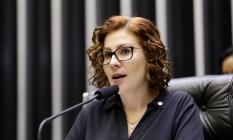 A deputada bolsonarista Carla Zambelli (PSL-SP) seguira para o partido que o presidente escolher Foto: Michel Jesus / Câmara dos Deputados
