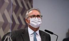 O relator da CPI da Covid, senador Renan Calheiros (MDB-AL) Foto: Edilson Rodrigues/Agência Senado