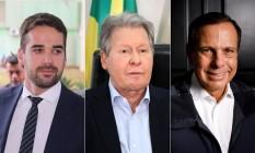 Eduardo Leite, Arthur Virgílio e João Doria são pré-candidatos do PSDB à Presidência Foto: Arquivo O Globo