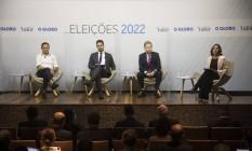 João Doria, Eduardo Leite e Arthur Virgílio participam de debate promovido pelo GLOBO e Valor Foto: Guito Moreto / Agência O GLOBO