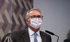 O relator da CPI da Covid, senador Renan Calheiros Foto: Agência Senado