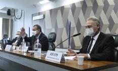 Sessão da CPI da Covid Foto: Agência Senado