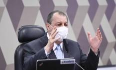 Presidente da CPI da Covid, senador Omar Aziz (PSD-AM) Foto: Edilson Rodrigues / Agência Senado