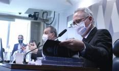 O relator da CPI da Covid, senador Renan Calheiros (MDB-AL) Foto: Edilson Rodrigues / Agência O Globo