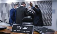 Comissão Parlamentar de Inquérito da Pandemia (CPIPANDEMIA) realiza reunião para apresentação do relatório final Foto: Roque de Sá / Agência O Globo