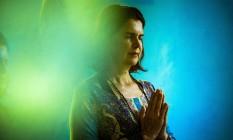 Professora de meditação Maria Araujo superou resistência inicial e virou mestra Foto: Hermes de Paula