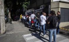 Fila de emprego:brasileiros seguem buscando vagas no mercado de trabalho Foto: Bruno Kaiuca / Bruno KAiuca