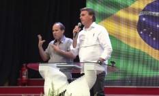 O presidente Jair Bolsonaro discursa durante evento evangélico em Roraima Foto: Reprodução/Youtube