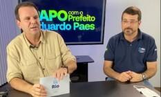 O prefeito Eduardo Paes e o secretário Daniel Soranz Foto: Reprodução