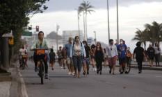 Cidade do Rio decide pelo fim do uso obrigatório de máscaras em ambientes abertos Foto: Fábio Rossi / Arquivo / Agência O Globo